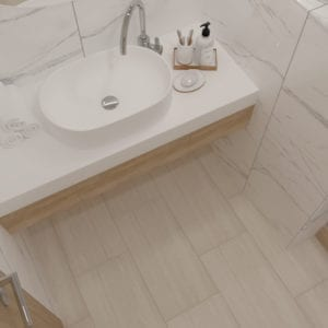 Avenel Ivory Vein Cut Look Tile 12x24