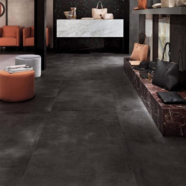 Boost Tarmac Black Concrete Look Tile