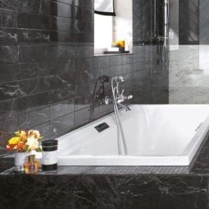 Brick Atelier Noir St. Laurent Black Marble Look Wall Tile