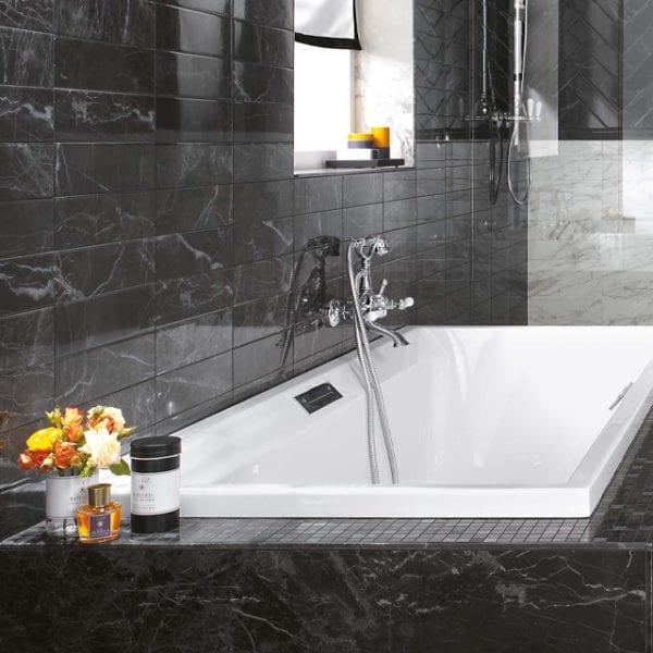 Brick Atelier Noir St. Laurent Black Marble Look Wall Tile
