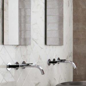 Brick Atelier Silver Dream Marble Look Wall Tile