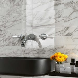 Brick Atelier Statuario Select White Marble Look Wall Tile