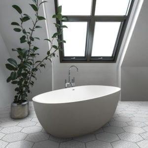 Carrara Hex Decorative Trendy Look Tile Deco Hex