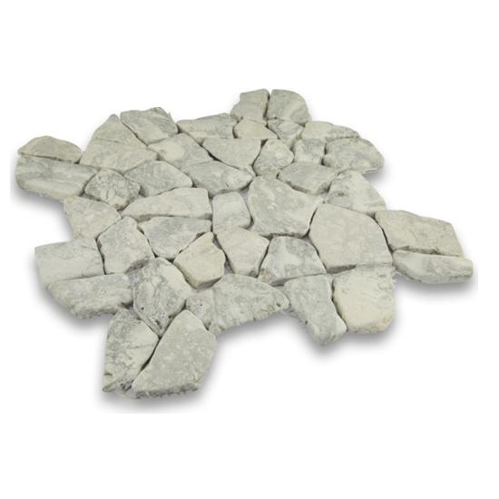 Cobbles Swirl Gray Marble Louisville Tile