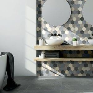 Divinity Mist Gray Stone Look Tile
