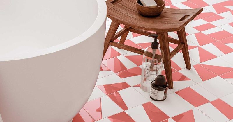 Duo bathroom floor tile by WOW Design