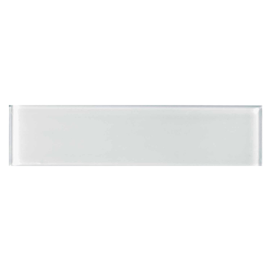 Element Glass Subway Tile White Ice