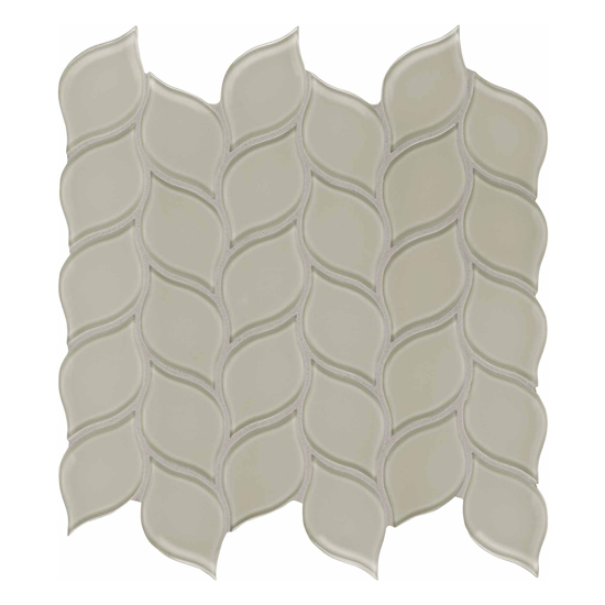 Elements Earth Beige Glass Mosaic Wall Tile