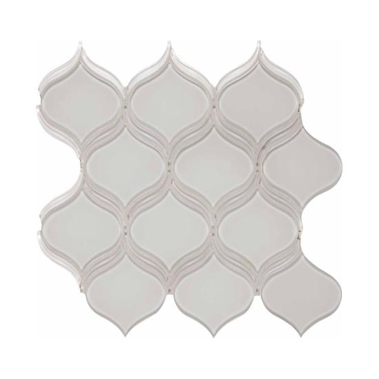 Elements Glass Mosaic Mist Gray Wall Tile