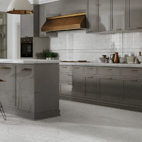 Eon Carrara Marble Look Tile White 12x24