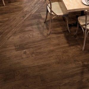 Have Barrel Brown Wood Look Plank Tile