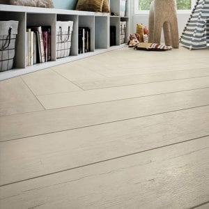 Haven Whitewash white Wood Look Plank Tile