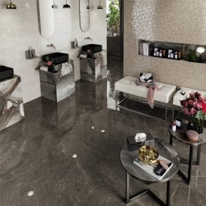 Marvel Edge Gris Supreme Gray Greige Marble Look Tile