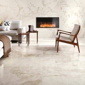 Marvel Edge Imperial White Marble Look Tile