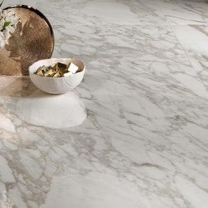Marvel Edge Royal Calacatta white Marble Look Tile