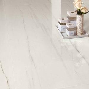 Marvel Stone Bianco Dolomite Marble Look Tile White