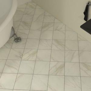 Mirarsol Bianco Carrara White Marble Look Tile Floor Wall Mosaic