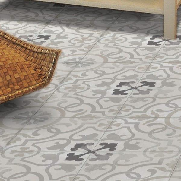 Nola Layfayette Cement Trendy Look Tile 8x8 Patterned