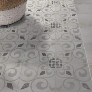 Nola Orleans Cement Trendy Look Tile Patterned 8x8