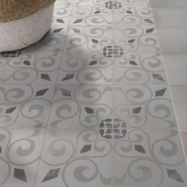 Nola Orleans Cement Trendy Look Tile Patterned 8x8