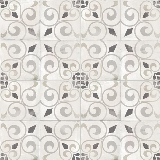 Nola Orleans Cement Trendy Look Tile 8x8 Patterned