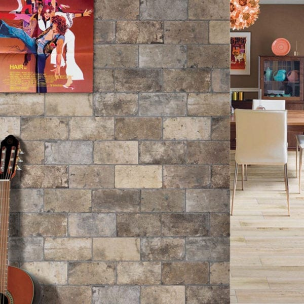 New York Broadway 4x8 Brick Trendy Tile