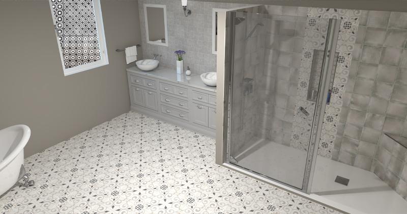 MLW Stone Nola Concrete Look Tile