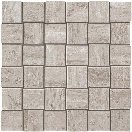 Path Silver Pearl Vein Cut Look Tile Net Mosaic Gray