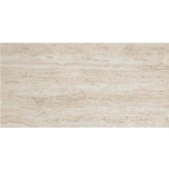 Path White Vein Cut Look Tile 12x24 Cream