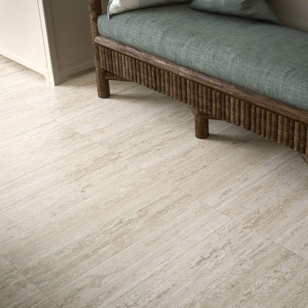 Path White Vein Cut Looks Tile 12x12 Cream