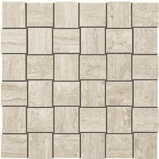 Path White Vein Cut Look Tile Net Mosaic Cream