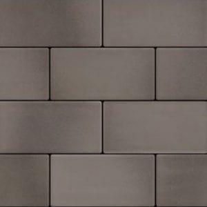 Retroclassique subway wall tile pewter black