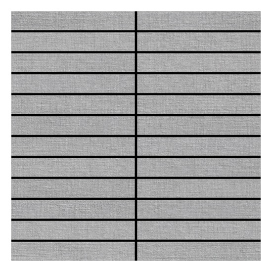 Rhyme Silver Melody Fabric Look Tile Mosaic