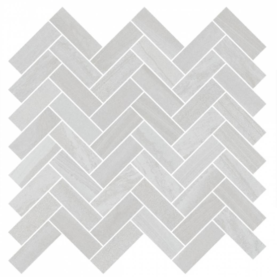 Sequence Breeze Contemporary Look Tile Gray Herringbone Mosaic